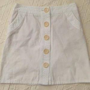 📚Boden White Button Down Skirt